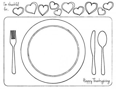 Thanksgiving Printable Place Setting For Kids