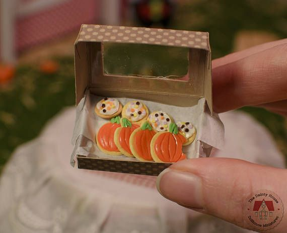 Miniature Pumpkin Cookies Miniature Cookie Box Miniature