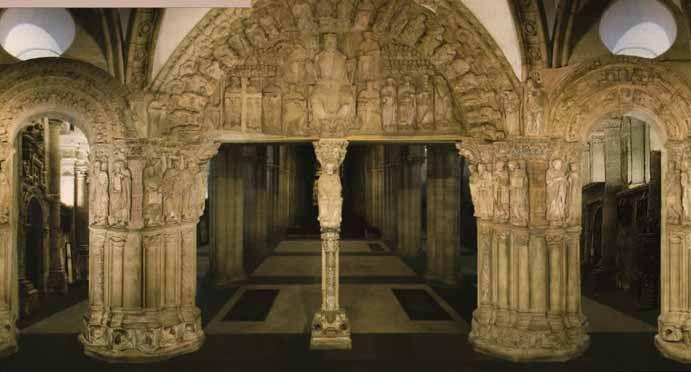 Pórtico de la Gloria. Catedral de Santiago de Compostela. España.