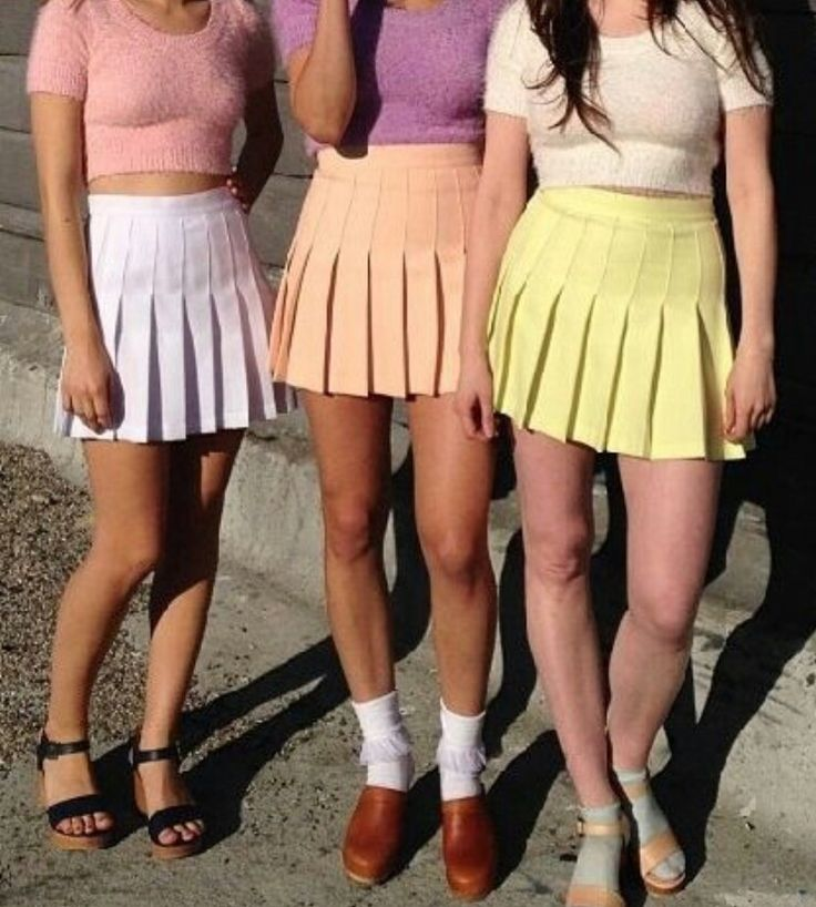 American apparel style skirts available Wednesday on dixapparel.com in all pastel colours! Summer is coming in June where we're at. Wbu? :)