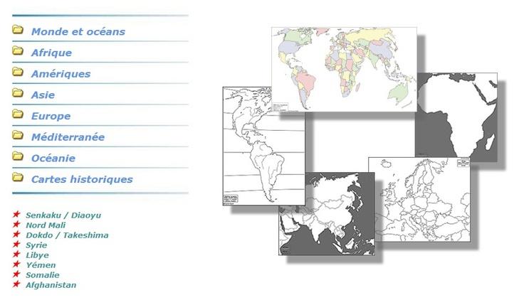 Des cartes géographiques à volonté