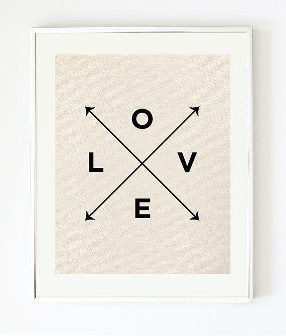 Love X Type Print - Nautical Love Print by Pretty Chic