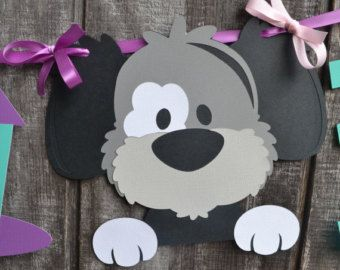 Dog Birthday Party Centerpiece Puppy Birthday by CraftedOccasions