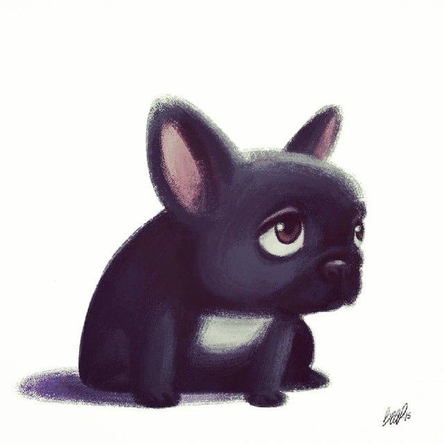 how to draw a french bulldog puppy
