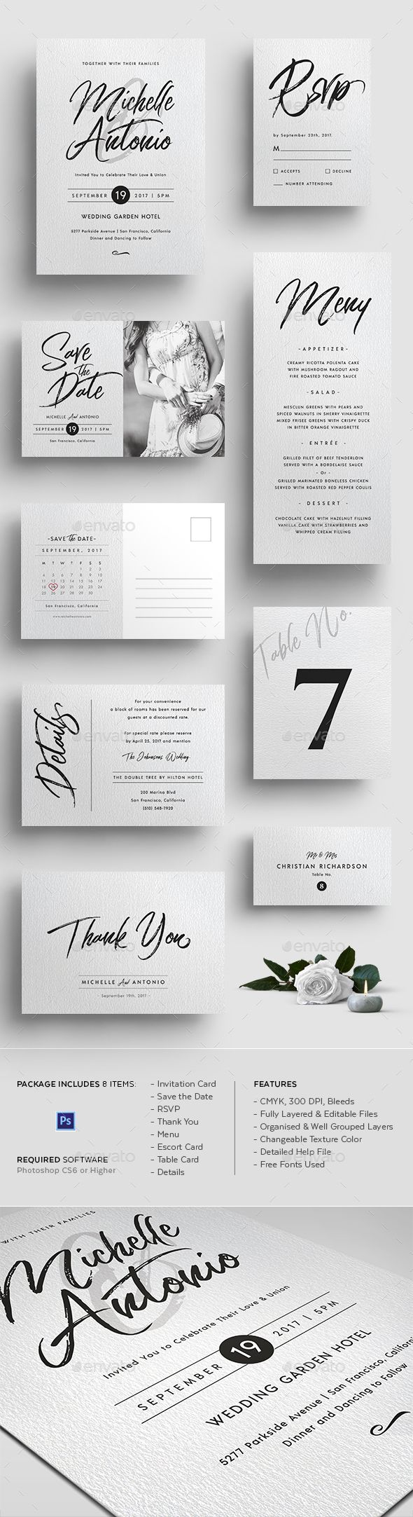 1037 best Wedding Invitation Template & Design images on Pinterest