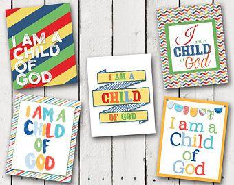 I Am A Child Of God Prints
