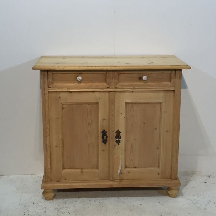 Small Antique Pine Sideboard Kitchen Cupboard (T6705B)