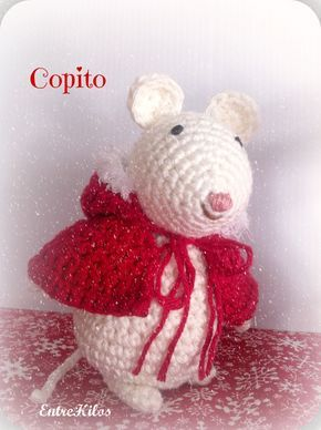 TUTORIAL: Como hacer ratoncitos amigurumis navideños a crochet