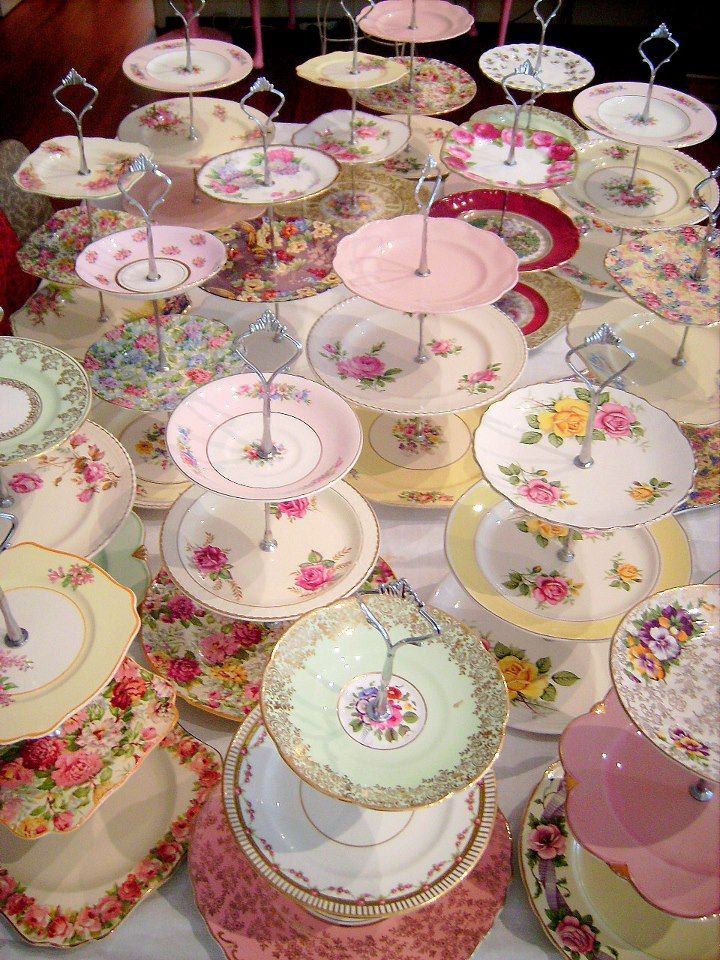 Beautious china tiered cake stands
