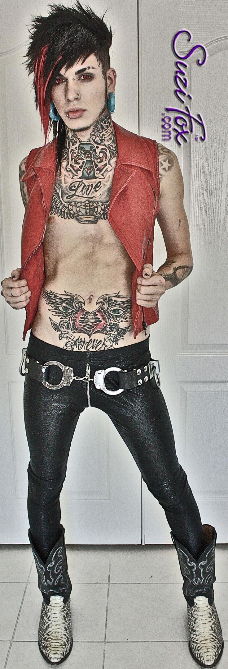 Jayy Von Monroe of the band Blood on the Dance Floor  (Suzi Fox black snake pants!)  https://www.facebook.com/JayyVonHatesYou https://www.facebook.com/bloodonthedancefloor  https://www.facebook.com/SuziFoxFashion http://www.liquidvinylclothing.com
