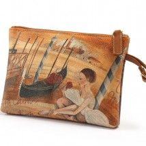Collezione di borse il pelle, Made in Italy da Terrida. Dipinti di Ornella Mastrogiovanni