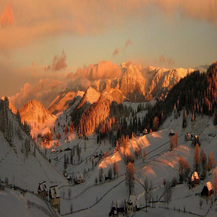Romania-Bucegi Mountains sunset