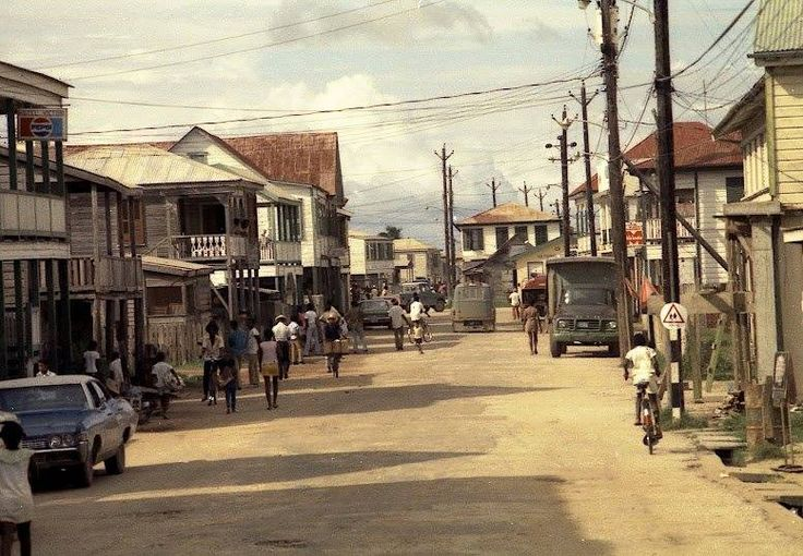 Stann Creek Town early 60's Now Dangriga commerce St.