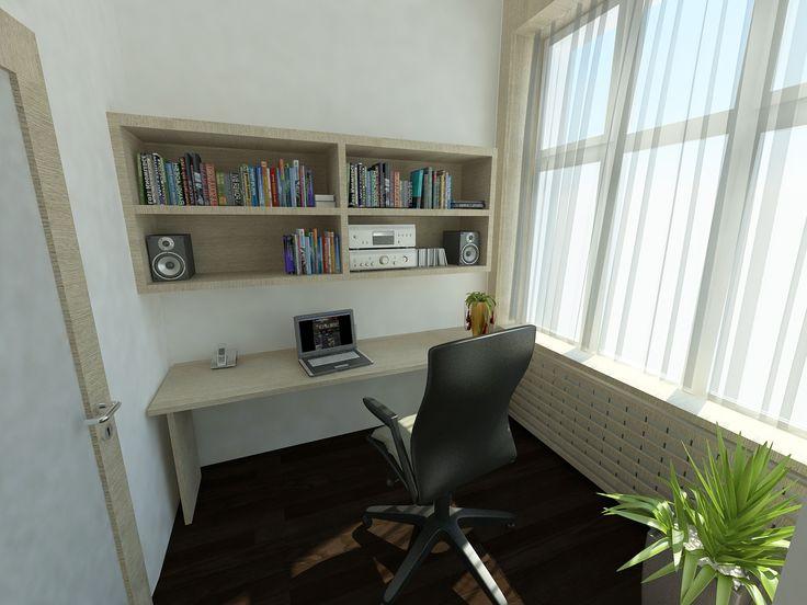 Dolgozó sarok - látványterv / Working place - architectural visualization