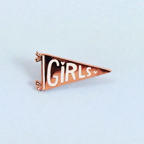 PINS AND PATCHES Girls Pennant Pin