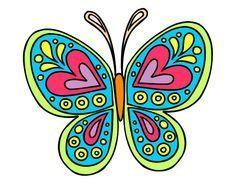 Dibujo Mandala mariposa pintado por ELIANA_02