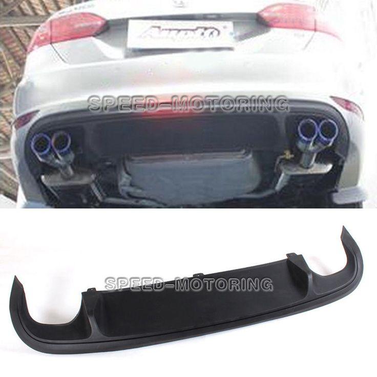Details about Dual Outlet Rear Bumper Diffuser Lip Fit for Volkswagen Jetta 6 VI MK6 GLI 12-14 ...