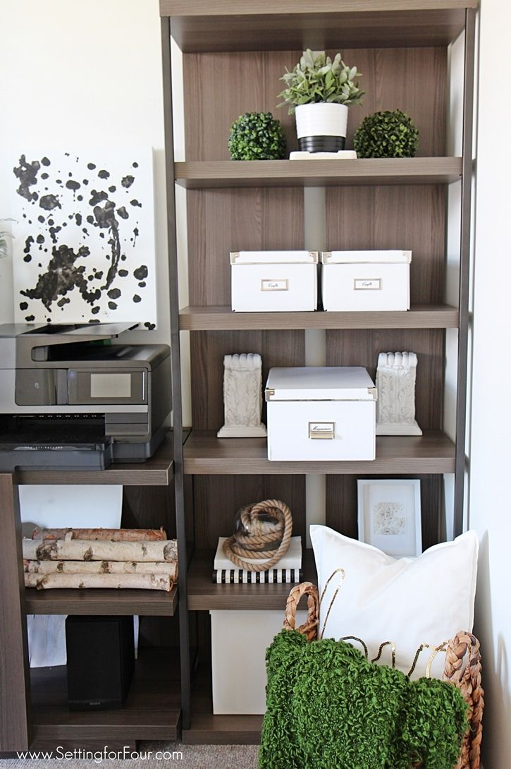 Adding Affordable Home Office Furniture Ideas And Designing A New Room  Layout Brings Order To My Cluttered Office And Work Space! See The  Transformation!