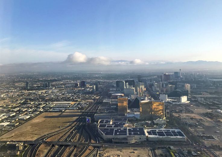 The Raiders football stadium site on Russell Road is seen in this aerial photo on Wednesday, May 10, 2017 in Las Vegas. Heidi Fang Las Vegas Review-Journal @HeidiFang