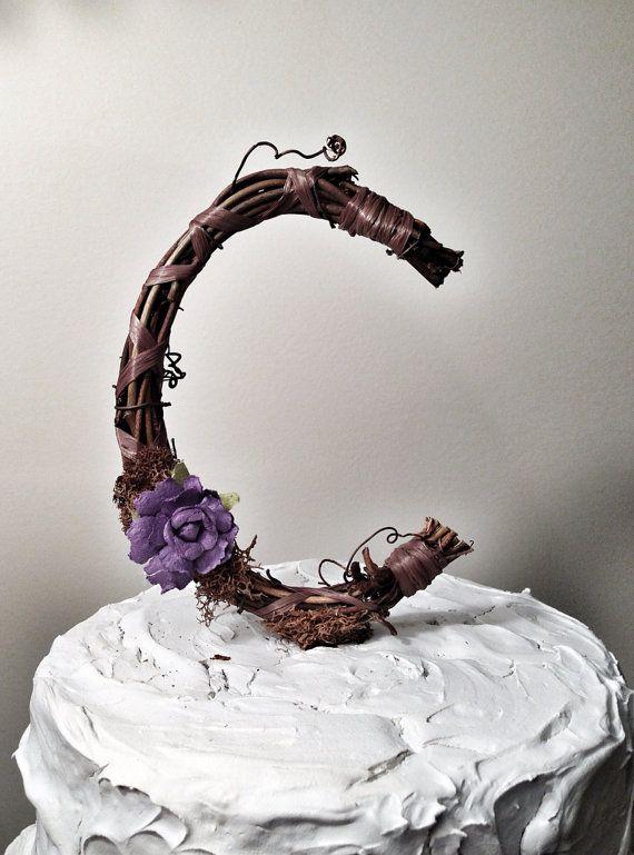 Letter D Wedding Cake Topper