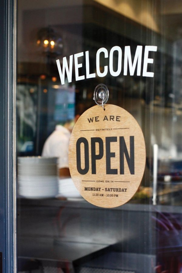 Welcome - We are open.... #