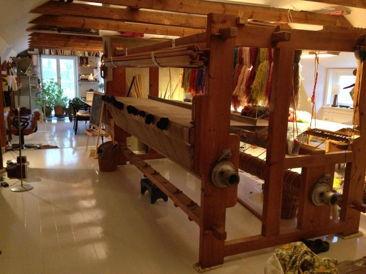 Annika Ekdahl's New Attic Studio her loom is so big!