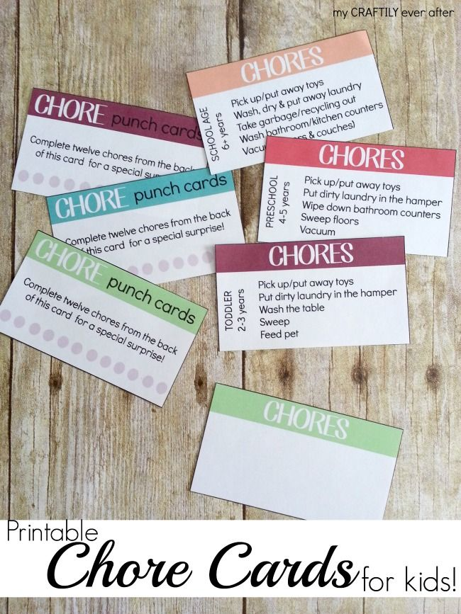 Fabulous! Printable chore cards for kids from @craftilyeverash