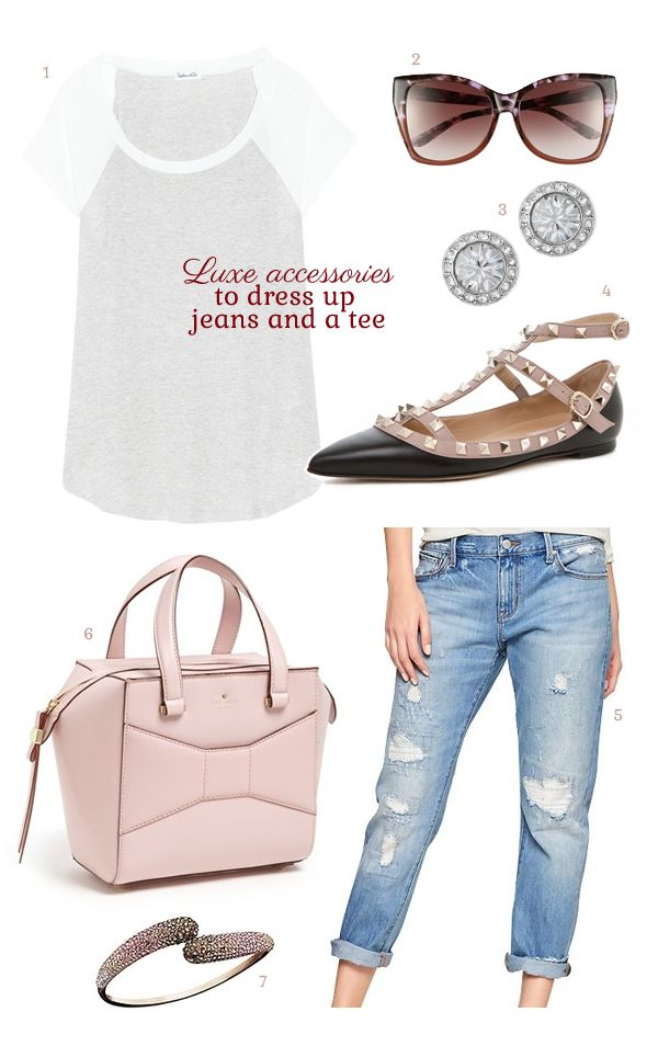 Love CAbi's deconstructed Brett Jean? Here are some ideas to dress them up....Luxe accessories to dress up jeans and a tee. Katyreitman.cabionline.com