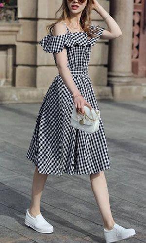 16 dicas de como combinar a tendência do xadrez nos seus looks do dia | Vestidos estilosos, Moda, Vestidos