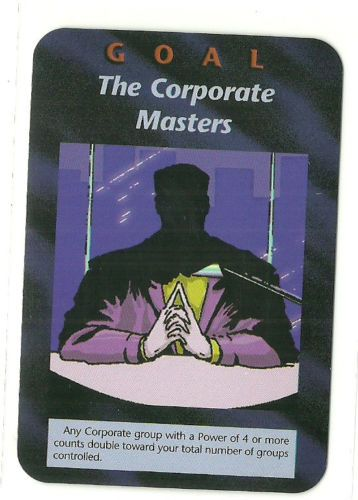 The Corporate Masters Illuminati CCG Unlimited Plot Goal Card 1995. Illuminati: New World Order (INWO) is a collectible card game (CCG) that was released in 1995[1] by Steve Jackson Games, based on their original boxed game Illuminati, which in turn was inspired by The Illuminatus! Trilogy. INWO won the Origins Award for Best Card Game in 1997.