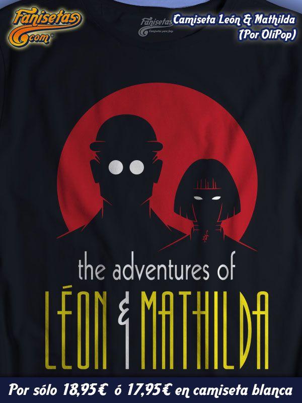 """Las Aventuras De """"León & Mathilda"""" los profesionales! Diseño por #OliPop basado en la película #LeónElProfesional y las aventuras de #Batman #Robin. #Camisetas #Cine #Fanisetas http://www.fanisetas.com/product_info.php/camiseta-las-aventuras-leon-matilda-p-4657"""
