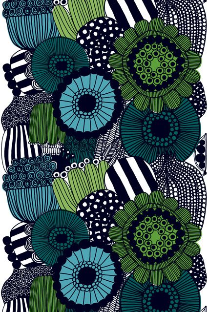 Marimekko Garden Tablecloth Fabric - Marimekko Fabric & Wallpaper - Designs & Photo Gallery (houseandgarden.co.uk)