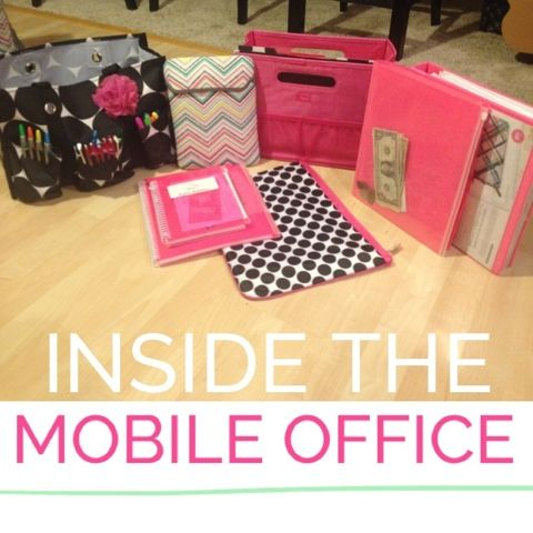 "Even though this is set up for a Thirty~One business ... it would be nice to get these items & do a ""Mary Kay Mobile Office"" ... How to Pack for a Party!"