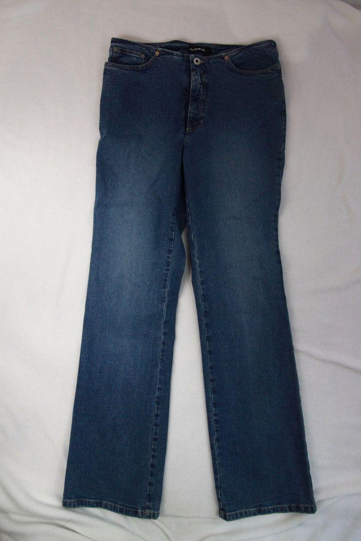 50.30$  Watch now - http://vionf.justgood.pw/vig/item.php?t=homhbkz20190 - Cambio Jeans Sz 12 Pants Boot Cut Light Wash Denim Womens Casual Blue