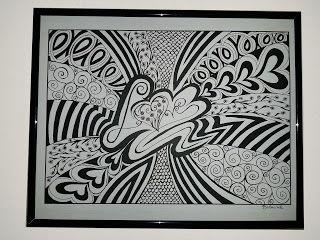 Autor:Kamila Bednarek  www.kamilabednarek.blogspot.com https://www.facebook.com/KamilaBednarekArt/ #zentangle #grafika #ilustracja #handmade
