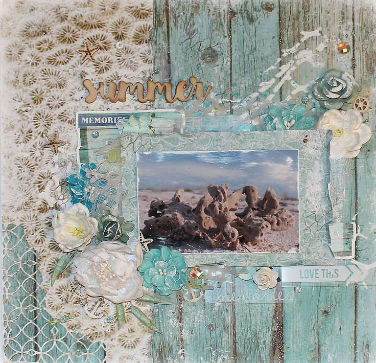 KAISERCRAFT - COASTAL ESCAPE - LAYOUT - MIXED MEDIA - KIRSTEN HYDE - MYHYDEAWAY - 1