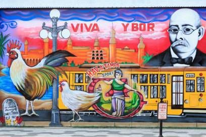 Wandmalerei in Ybor City