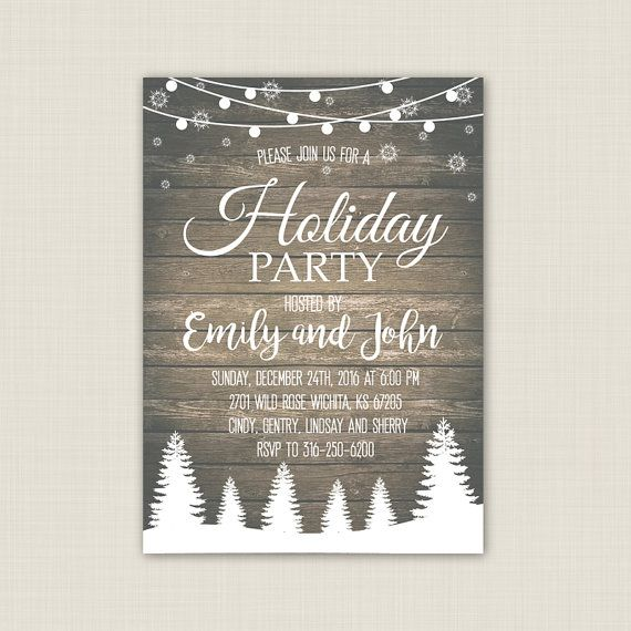 Holiday Party Invitation. Christmas Party by CutePaperStudio