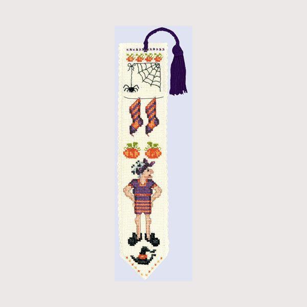 kit de broderie au point de croix points comptés : marque-page sorcières