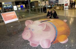 ING 3D Chalk art created by www.staffWarehous… visit us to learn more…   – #…   – Street Art