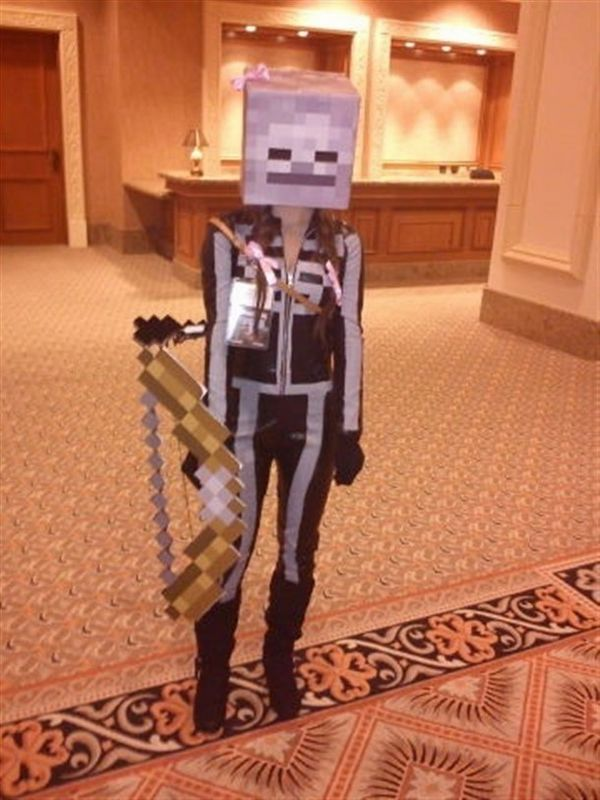 Minecraft Halloween costume ideas for girls skeleton bow