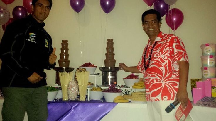 Choc fountain buffet