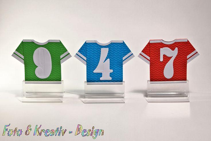Einladungskarten - Fußball - Trikot - Einladung Set / 3 Stk. - ein Designerstück von Foto-und-Kreativ-Design bei DaWanda