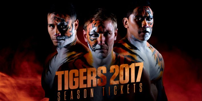 Castleford Tigers have confirmed a freeze on ticket sales for next season, and attempted to lure new fans to the club by releasing pictures of their players in body paint.    Adults season ticket prices can be