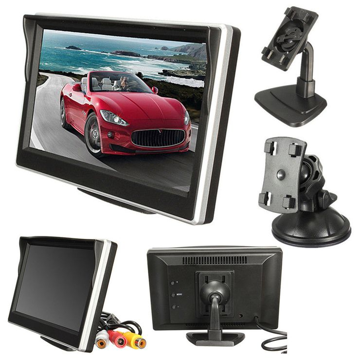 "5"" Digital TFT LCD Screen Display Car Vehicle Rear View Reverse Camera Monitor #UnbrandedGeneric"