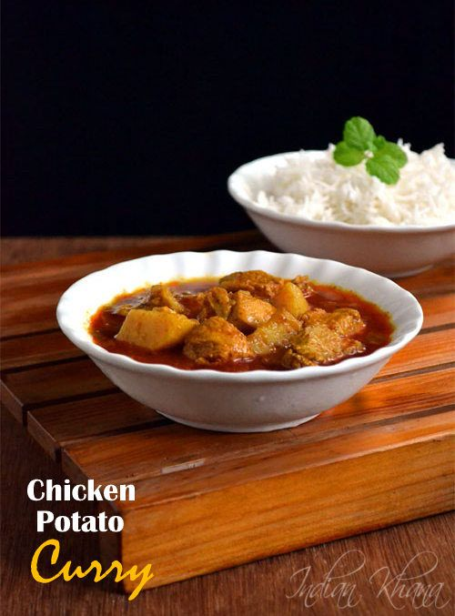 Chicken Potato Curry in little over 30 mins in Pressure Cooker