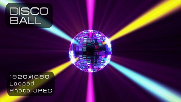 Disco Ball Light Video Animation | Full HD 1920×1080 | Looped | Photo JPEG | Can use for VJ, club, music perfomance, party, concert, presentation | #3d #club #colourfull #dance #disco #discoball #dj #edm #glamour #light #music #party #pop #shine #sparkling