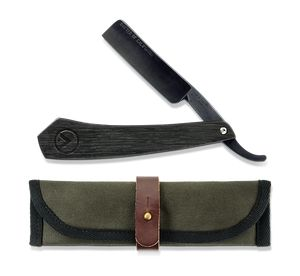 Discover Baxter of California's Base Camp X Cut-Throat Straight Razor, a sharp, lasting shaving blade for a traditional wet shave.