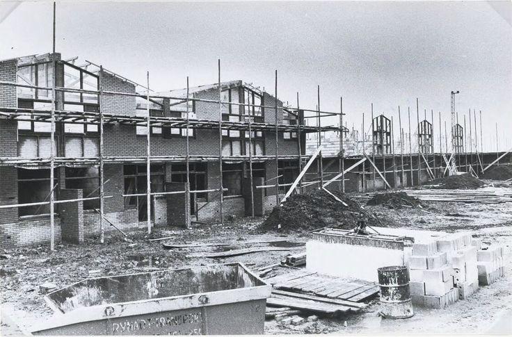 Woningen gebouwd door Bohemen in Krooswijk maart 1975