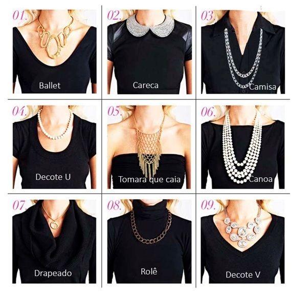 Existe um colar feminino para cada tipo de decote. Veja algumas dicas e saiba como escolher colares femininos e arrasar com seu decote.